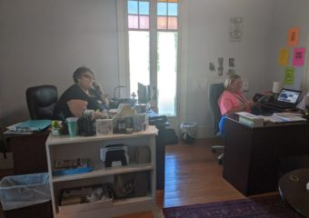 Sandy & Misty Making Wellness Calls to Meals on Wheels Clients
